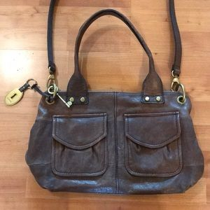 Fossil Long Live Vintage Crossbody Leather Bag